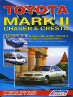 Toyota Mark II / Chaser / Cresta (Тойота Марк 2 / Чайзер / Креста). Руководство по ремонту, инструкция по эксплуатации. Модели с 1996 по 2001 год выпуска, оборудованные бензиновыми и дизельными двигателями