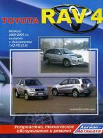 Toyota RAV4 (Тойота РАВ4). Руководство по ремонту леворульных авто, инструкция по эксплуатации. Модели с 2000 по 2005 год выпуска, оборудованные бензиновыми двигателями
