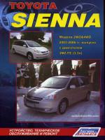 Toyota Sienna (Тойота Сиенна). Руководство по ремонту, инструкция по эксплуатации. Модели с 2003 по 2006 год выпуска, оборудованные бензиновыми двигателями