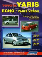 Toyota Yaris / Echo / Yaris Verso (Тойота Ярис / Эхо / Ярис Версо). Руководство по ремонту, инструкция по эксплуатации. Модели с 1999 по 2005 год выпуска, оборудованные бензиновыми двигателями