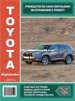 Toyota Highlander (Тойота Хайлендер). Руководство по ремонту, инструкция по эксплуатации. Модели с 2013 года выпуска, оборудованные бензиновыми двигателями
