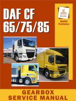 Коробка передач DAF CF 65 / 75 / 85 (Даф СФ 65 / 75 / 85). Руководство по ремонту, инструкция по эксплуатации