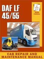 Кабина DAF LF 45 / 55 (Даф ЛФ 45 / 55). Руководство по ремонту, инструкция по эксплуатации