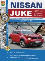 Nissan Juke (Ниссан Жук). Руководство по ремонту, инструкция по эксплуатации. Модели с 2011 года выпуска (+ рестайлинг с 2014), оборудованные бензиновыми и дизельными двигателями.