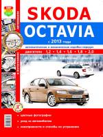 Skoda Octavia A7 (Шкода Октавия А7). Руководство по ремонту, инструкция по эксплуатации в цветных фотографиях. Модели с 2013 года выпуска, оборудованные бензиновыми двигателями