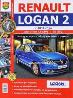Renault Logan 2 (Рено Логан 2). Руководство по ремонту, инструкция по эксплуатации в цветных фотографиях. Модели с 2014 года выпуска, оборудованные бензиновыми двигателями