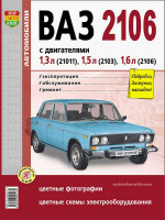Лада (Ваз) 2106 (Lada (VAZ) 2106). Руководство по ремонту в фотографиях, инструкция по эксплуатации. Модели с 1976 по 2006 год выпуска, оборудованные бензиновыми двигателями