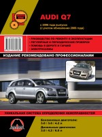 Audi Q7 (Ауди Кью7). Руководство по ремонту, инструкция по эксплуатации. Модели с 2006 года выпуска, оборудованные бензиновыми и дизельными двигателями