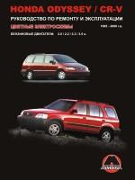 Honda CR-V / Odyssey (Хонда ЦР-В / Одиссей). Руководство по ремонту, инструкция по эксплуатации. Модели с 1995 по 2000 год выпуска, оборудованные бензиновыми двигателями