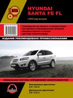 Hyundai Santa Fe FL (Хундай Санта Фе ФЛ). Руководство по ремонту, инструкция по эксплуатации. Модели с 2010 года выпуска, оборудованные бензиновыми и дизельными двигателями.