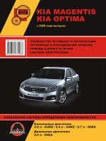 Kia Magentis / Optima (Киа Маджентис / Оптима). Руководство по ремонту, инструкция по эксплуатации. Модели с 2009 года выпуска, оборудованные бензиновыми и дизельными двигателями
