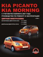 Kia Picanto / Morning (Киа Пиканто / Морнинг). Руководство по ремонту, инструкция по эксплуатации. Модели с 2003 года выпуска (рестайлинг 2007 г.), оборудованные бензиновыми и дизельными двигателями