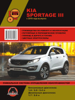 Kia Sportage 3 (Киа Спортейдж 3). Руководство по ремонту, инструкция по эксплуатации. Модели с 2010 года выпуска, оборудованные бензиновыми и дизельными двигателями