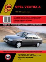 Opel Vectra A (Опель Вектра А). Руководство по ремонту, инструкция по эксплуатации. Модели с 1988 по 1995 год выпуска, оборудованные бензиновыми и дизельными двигателями