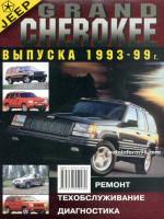 Jeep Grand Cherokee (Джип Гранд Чероки). Руководство по ремонту, инструкция по эксплуатации. Модели с 1993 по 1999 год выпуска, оборудованные бензиновыми двигателями