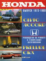 Honda Civic / Accord (Хонда Цивик / Аккорд). Руководство по ремонту, инструкция по эксплуатации. Модели с 1973 по 1988 год выпуска, оборудованные бензиновыми двигателями