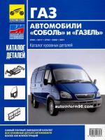 ГАЗ Соболь / Газель (GAZ Sobol / Gazel ). Каталог кузовных деталей. Модели, оборудованные бензиновыми двигателями