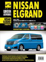 Nissan Elgrand (Ниссан Эльгранд). Руководство по ремонту в фотографиях, инструкция по эксплуатации. Модели с 2002 года выпуска, оборудованные бензиновыми двигателями