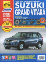 Suzuki Grand Vitara (Сузуки Гранд Витара). Руководство по ремонту в цветных фотографиях, инструкция по эксплуатации. Модели с 2005 года выпуска, оборудованные бензиновыми двигателями