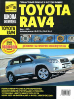 Toyota RAV4 (Тойота РАВ4). Руководство по ремонту в фотографиях, инструкция по эксплуатации. Модели с 2005 года выпуска, оборудованные бензиновыми двигателями