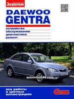 Daewoo Gentra (Дэу Гентра). Руководство по ремонту в цветных фотографиях, инструкция по эксплуатации. Модели с 2013 года выпуска, оборудованные бензиновыми двигателями.