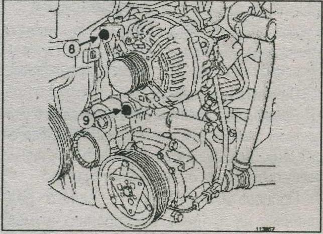крепления генератора Renault Sandero