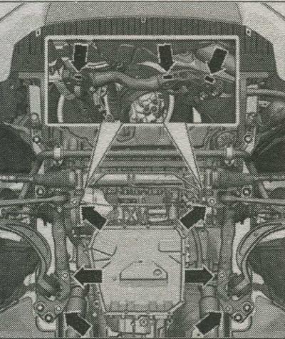 черырехгранные гайки Audi A4, опора подрамника Audi A4