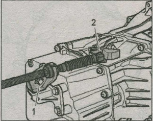 шаровой подпятник троса селектора Audi A4, рычаг переключения Audi A4