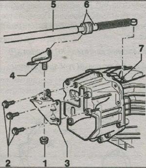 кронштейн троса селектора АКП Audi A4
