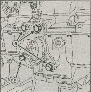 крепление фланца вала привода правого колеса Renault Duster