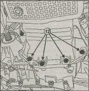 крепление поддона картера двигателя Renault Duster