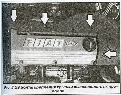 Болты крепления крышки высоковольтных проводов Fiat Bravo