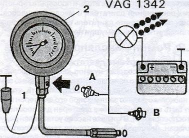 Подключение контрольного манометра