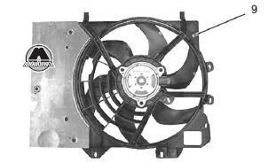 Элетровентилятор охлаждения Citroen C3 Picasso