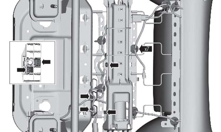 Отсоединение проводки Ford Focus 3
