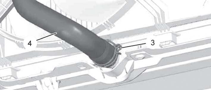 Шланг по которой протикает охлаждающая жидкость Peugeot 3008