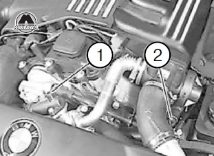 Сливное отверстие на блоке цилиндров BMW Х5