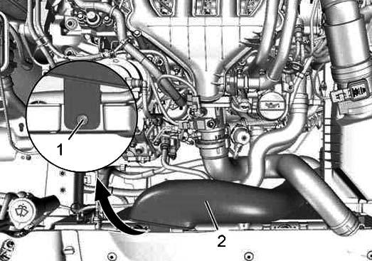 Снятие трубки датчика воздуха Citroen C5
