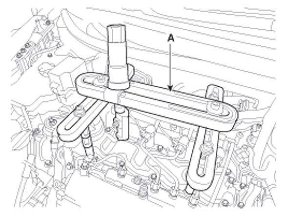 Установка форсунки Hyundai i30