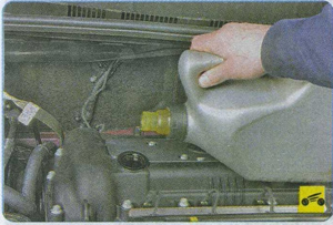 масляный щуп Hyundai Solaris, уровень масла Hyundai Solaris