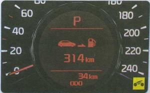 запас хода на остановке топлива в баке Kia Ceed