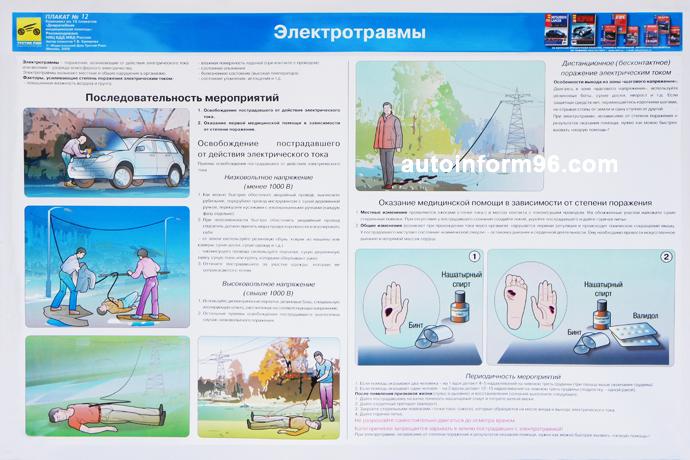 учебный плакат электротравмы