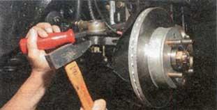 торец рычага поворотного кулака Hyundai Accent