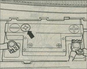 состояние аккумулятора Audi A4, оптический индикатор Audi A4