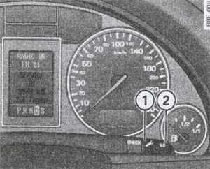 индикация технического обслуживания Audi А4