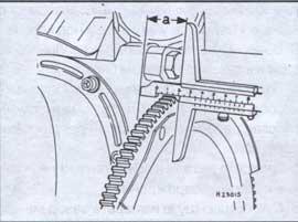 установочный размер зажигания Audi 80, установочный размер зажигания Audi 90