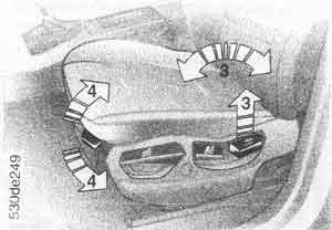 регулировка спинки BMW Х5