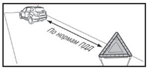 Треугольный знак аварийной остановки Chery Tiggo 3