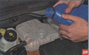 долив жидкости Chevrolet Cruze