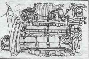 крышки клапанного механизма Chevrolet Lacetti, крышки клапанного механизма Daewoo Nubira